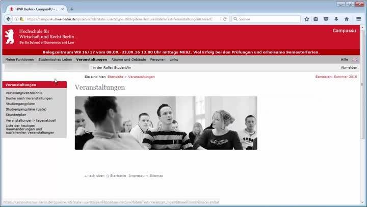 Campus4u - Videoanleitung für Studierende am FB1 der HWR Berlin
