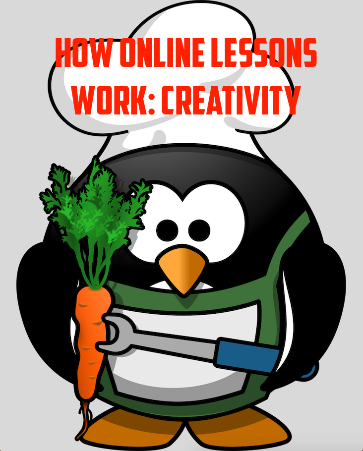 How online lessons work: CREATIVITY