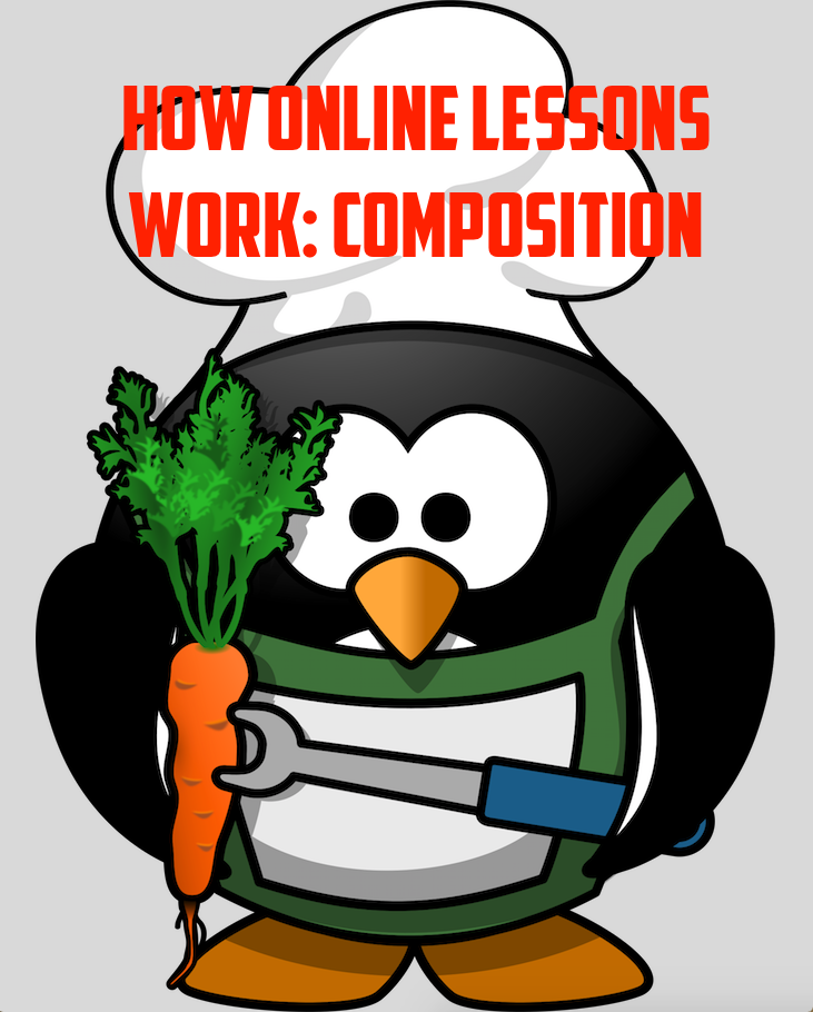 How online lessons work: COMPOSITION - MINTO PRINCIPLE
